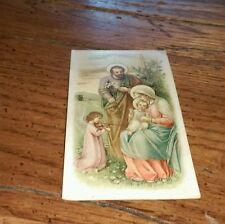 Vintage Polish Prayer Card Modlitwa Jozef Muller Sklad Obrazow Monachium signed