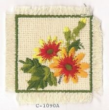 """2 7/8"""" Orange Red Yellow Great Blanket Flower Embroidery Iron On Applique Patch"""