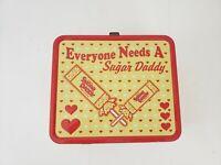 Sugar Daddy Metal Lunch Box Everyone Needs A Sugar Daddy Yellow Red Hearts