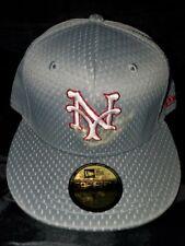 NEW ERA 59 FIFTY MLB NEW YORK METS GREY MESH BATTING PRACT HAT GREY SIZE 7 3/8