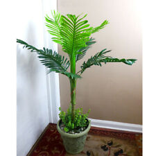 """38"""" Palm Artificial Silk Tree Green Plant With Grasses Bush (9 Leaves)"""
