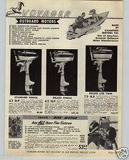 1949 PAPER AD Voyager Outboard Motor Travis Bicycle Bike 2 Finger Baseball Glove
