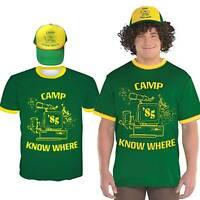 Stranger Things 3 Mens Short Sleeve T-Shirt Tops + Hat 2pcs Set Cosplay Costume