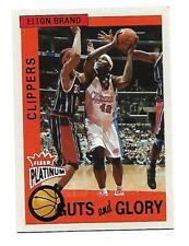 2002-03 Fleer Platinum - Guts & Glory insert - Elton Brand #4 of 10 GG