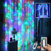 300 LED Curtain Fairy Hanging String Lights Wedding Valentine's Day Decor US