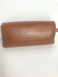 Fossil Hard Glass Case Brown Leather Case Only* No Glasses