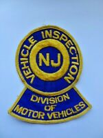 Vintage NJ Vehicle Inspection Division Motor Police Cheese Cloth Patch Used