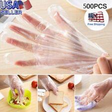500× Plastic Dis 00004000 posable Gloves Restaurant Home Service Catering Hygiene Glove