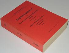 Zugbildungsplan A für Schnellzüge - Reihungsplan (ZpAR) Winter 1991/92