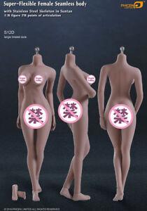 "IN-STOCK TBLeague Phicen S12D 1/6 Scale Super Flexible Female  12""  Body"