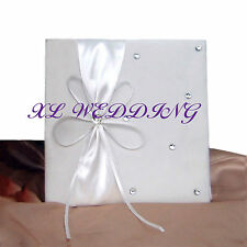 IVORY WEDDING/MARRIAGE CERTIFICATE HOLDER/COVER  WITH BOW & DIAMANTES BOXED NEW