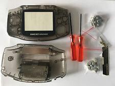 Austausch Ersatz Komplett Gehäuse für Gameboy Advance / GBA Transparent Black