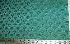 Green Shell Print Upholstery Fabric 1  Yard  R309