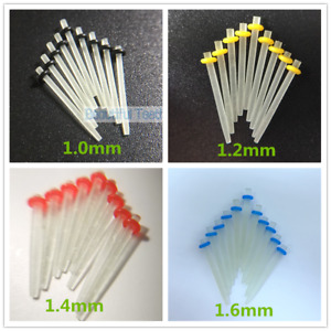 Dental Quartz Fiber Post Root Canal Pins Straight Post 1.0/1.2/1.4/1.6mm Crowns