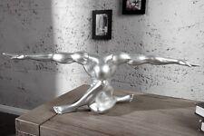 Figur Skulptur Statue ATHLETIKO silber 62cm Athlet Design Accessoire Geschenk