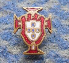 PORTUGAL SOCCER FOOTBALL FEDERATION 1960's SMALL VERSION ENAMEL PIN BADGE