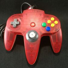 Nintendo 64 N64 Controller japan popular clear red official  Tested&work f/s