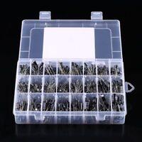 500pcs Electrolytic Capacitor Assortment Kit 0.1UF-1000UF 10V-50V 24 Value w/Box