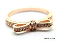 08f6f329b Authentic PANDORA #180906cz-50 Sparkling Bow Rose Collection Ring Size 5  ALR R