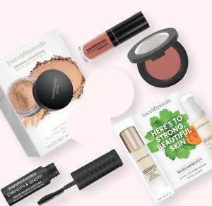 Bare Minerals Qty/Set 5 Powder Blush/Mascara/Foundation/Lip Lacquer Gift