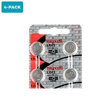 4 Unit Lr43 1.5V Alkaline Batteries Equivalent Lr43 386 186 Ag12 L1142