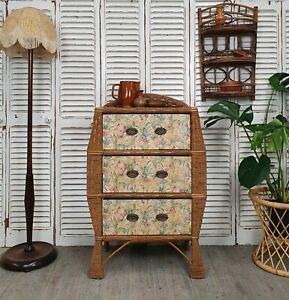 ANTIQUE WICKER AND CANE BLOUSE DRAWERS