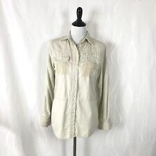 Ralph Lauren Safari Top Net Pockets Fishing Outdoor Embroidered Women Size S