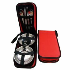 Couples Stainless Steel Tableware Kit - Bowl Chopsticks Spoon - Outdoor Travel
