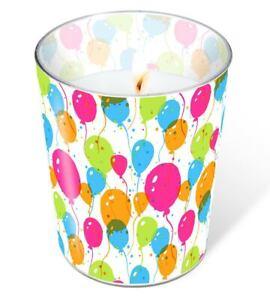 1x Glaskerze Luftballons - Splash Balloons - Geburtstag Karneval Fasching