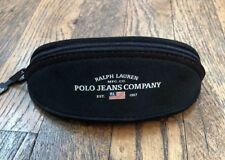 Ralph Lauren Polo Eyeglasses Case Black Sunglasses Soft Protective Zip Logo