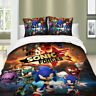 3D 2/3Pieces Duvet Cover Set All Size Bedding Set Sonic The Hedgehog Anime Newly