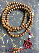 Wholesale 2pcs Genuine Wenge Wood 108 8mm Buddhist Prayer Bead Mala Necklace