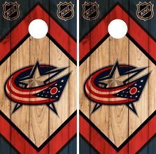 Columbus Blue Jackets Cornhole Wrap NHL Vintage Game Skin Set Vinyl Decal CO229
