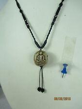 altes Buddha Ton - Amulet Amulett DZI Bead Halskette Halskette Thailand vor 1960