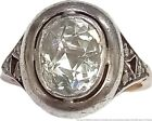 Rare Antique Georgian Approx. 1.30ct Rose Cut Diamond Solid Gold Silver Top Ring
