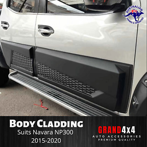 Door Cladding Side Body Moulding Trim to suit Nissan Navara NP300 2015+ Dual Cab