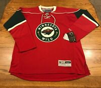 Reebok Minnesota Wild NHL Hockey Jersey Adult M Medium New With Flaws