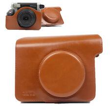 For Fuji Fujifilm Instax Wide 300 Camera Retro Brown PU Leather Case Bag Cover