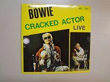 "DAVID BOWIE: Cracked Actor Live 83 & 74-Yugoslavia 7"" 86 ARC 707 Clear Vinyl PCV"
