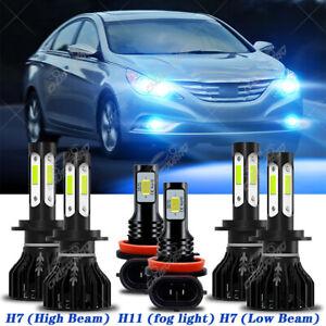 Para For Hyundai Sonata 2011 2012 2013 2014 faro LED + Kit de lámpara antiniebla