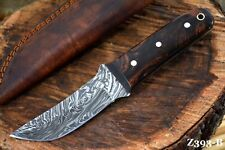 Custom Damascus Steel Hunting Knife Handmade With Resin Handle (Z393-B)