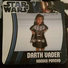 star wars darth vader hooded poncho towel black NWT