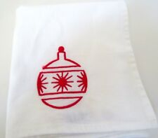 "Vintage Delta Airlines Cloth Napkins Embroidered Red Ornament 23"" x 13""  Qty 4"