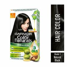 Garnier Naturals Crème Hair Color Shade 1 Natural Black,70ml+60g + Free Shipping