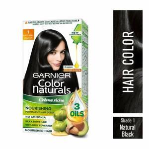 Garnier Naturals Crème Hair Color Shade 1 Natural Black,70ml+60g + Free Shipping