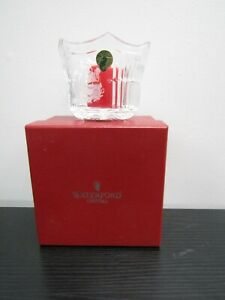 Waterford Lead Crystal Saint-Nicholas Votive With Candle W/ Original Box