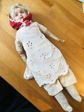 Antique Minerva Tin Head Doll Germany