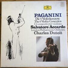 2740 121 Paganini The 6 Violin Concertos / Accardo / Dutoit 5 LP box