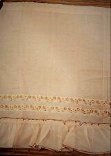 "(K-928) Vintage Kitchen RV Camper Curtains 28 x 36"" Brown w Yellow Floral Panels"