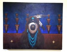 original oil painting by Navajo artist Rueben Richards